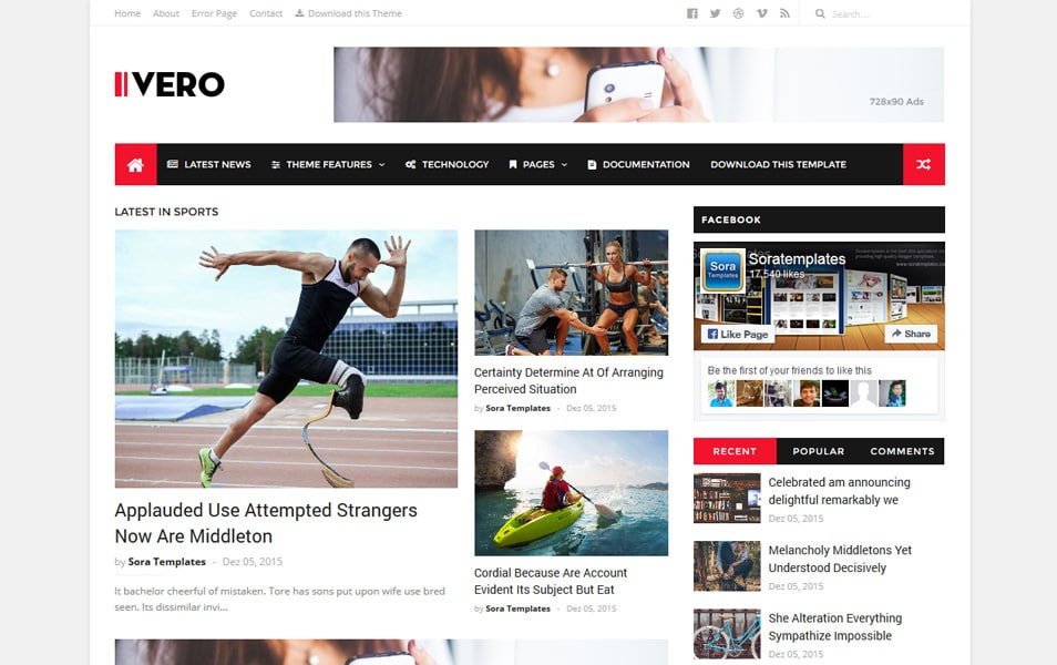 IVERO Responsive Blogger Template