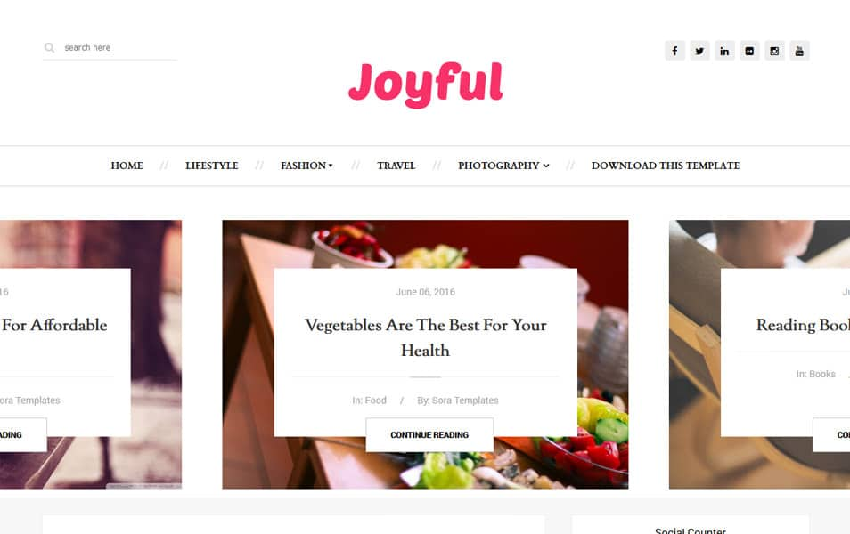 JoyFul Fashion Responsive Blogger Template