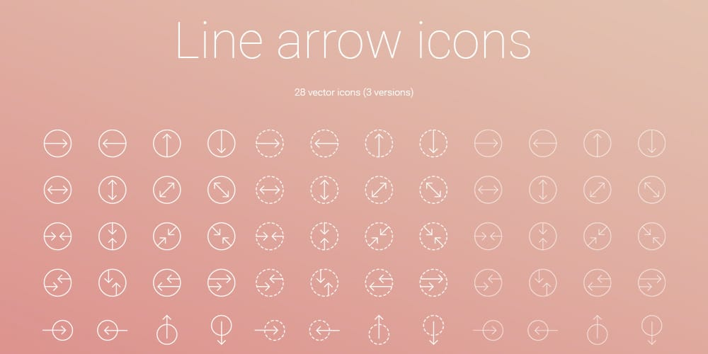 Line-Arrow-Icons