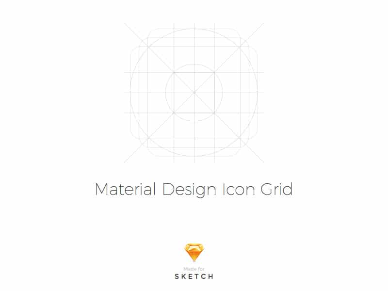 Material Design Icon Grid Template