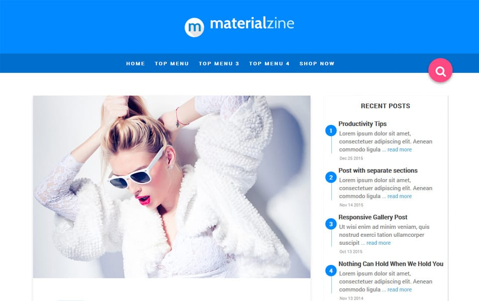 Material Responsive Blogger Template