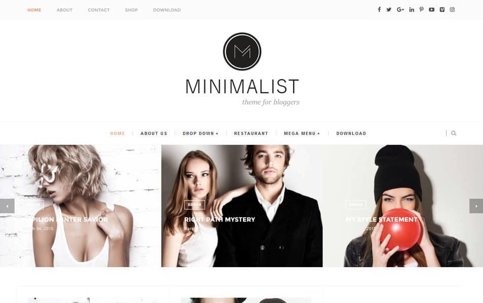Minimalist Responsive Blogger Template