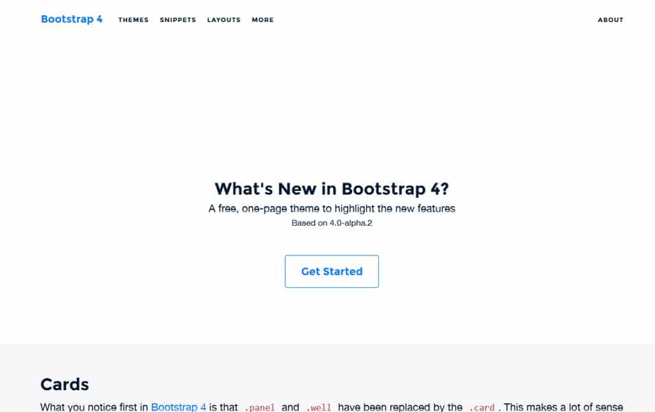 New in Bootstrap 4 Theme