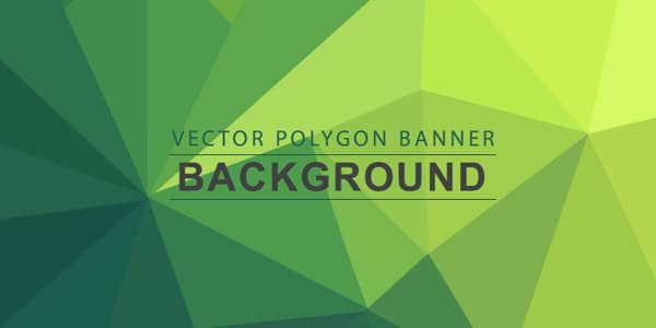 Polygon Background Banners PSD