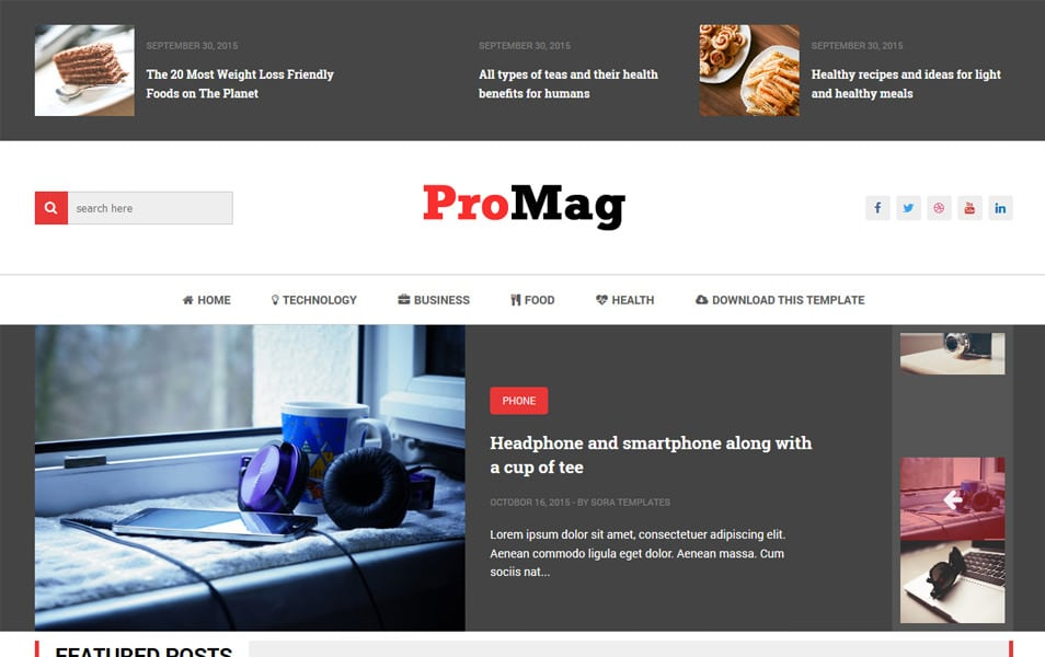 ProMag Responsive Blogger Template