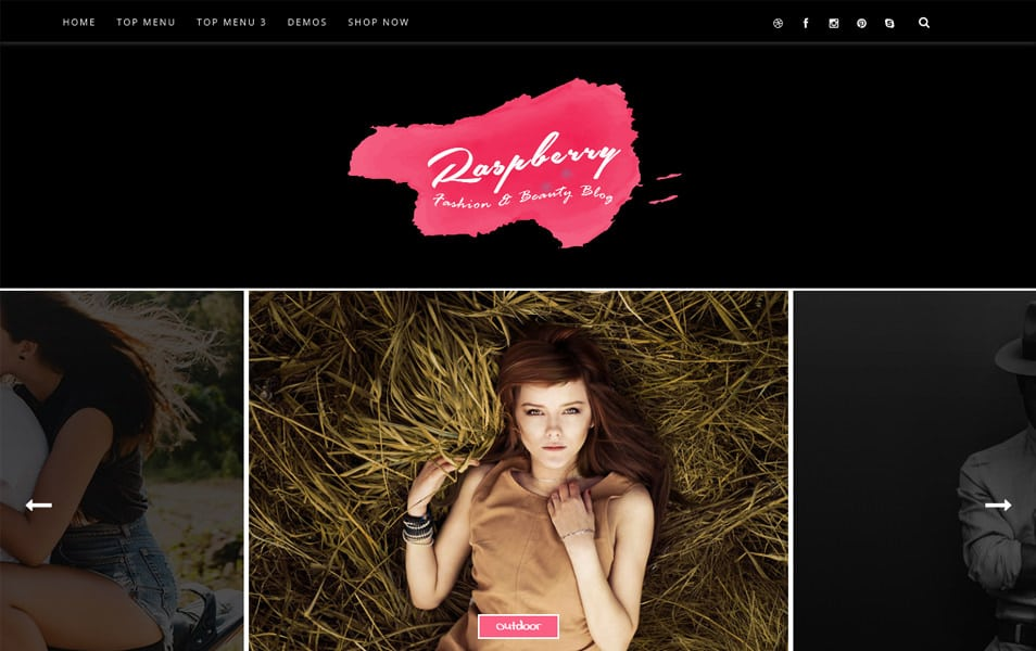 Raspberry Responsive Blogger Template