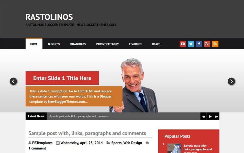 Rastolinos Responsive Blogger Template