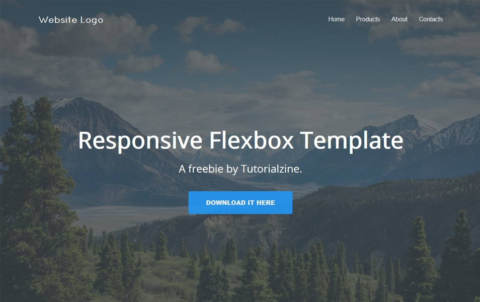 Responsive Landing Page Template With Flexbox