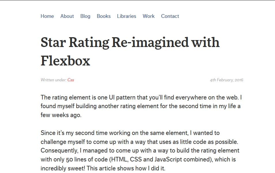 Star Rating Re-imagined with Flexbox