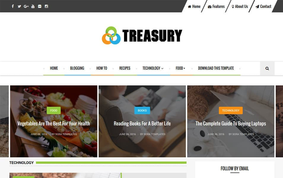 Treasury Responsive Blogger Template