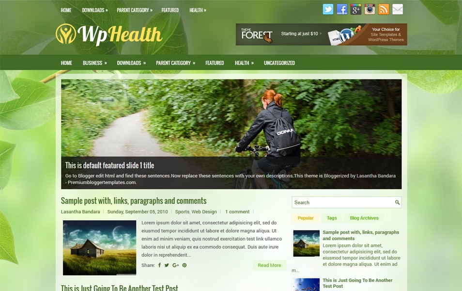 Template Blogger Responsif WpHealth