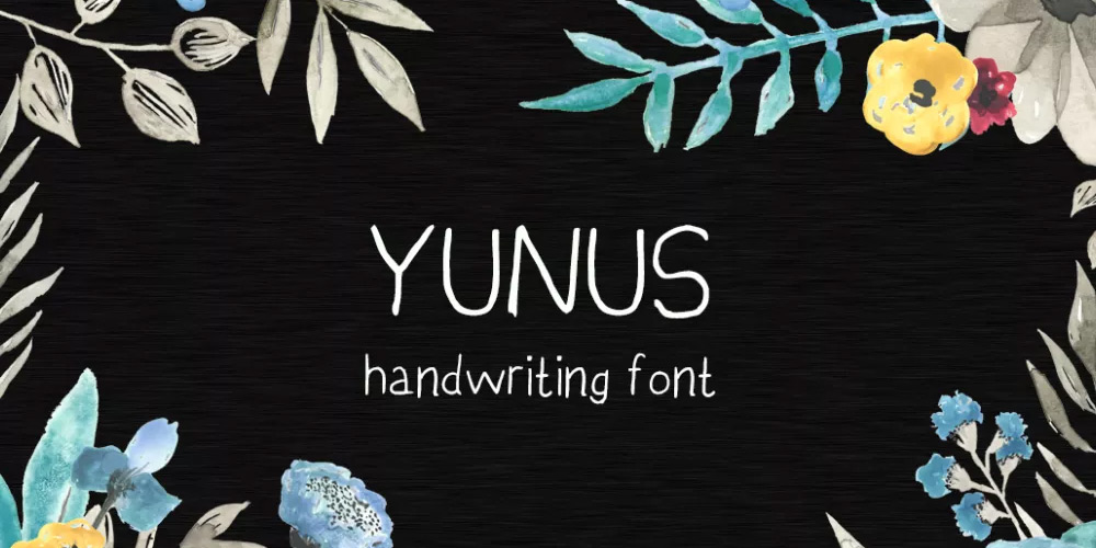 Yunus Handwriting Free Font