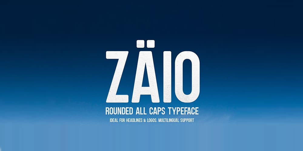 Zaio Rounded Font