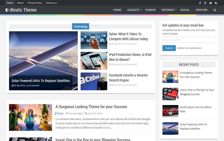 iBeats Responsive Blogger Template
