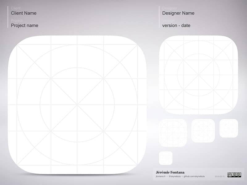 iOS Icon Template PSD