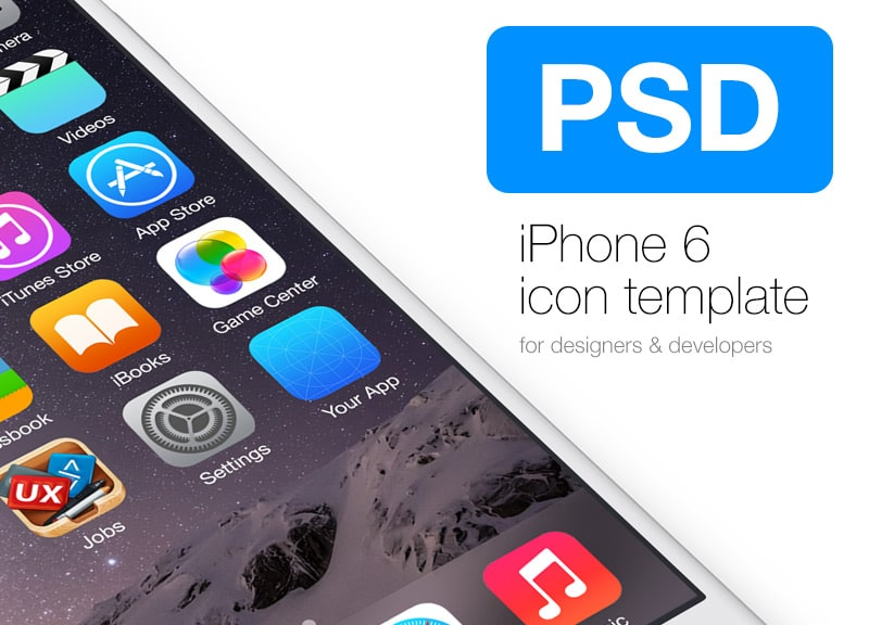 iPhone 6 Icon Template PSD