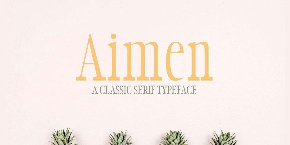 Aimen Typeface