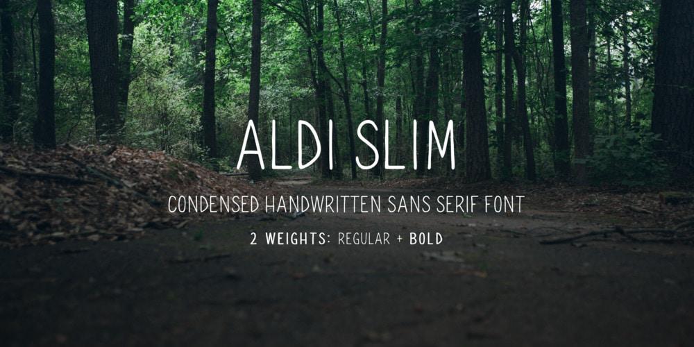 Aldi Slim Font