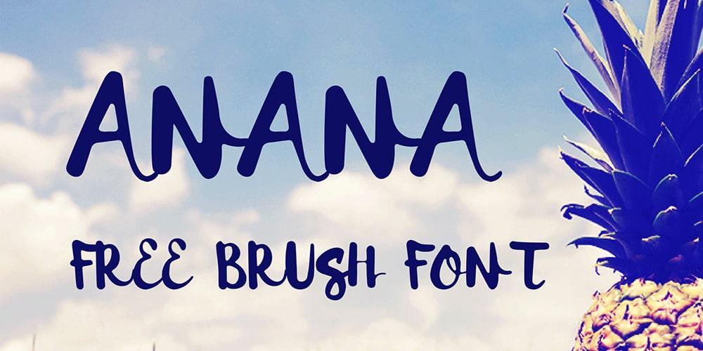 Anana Brush Font