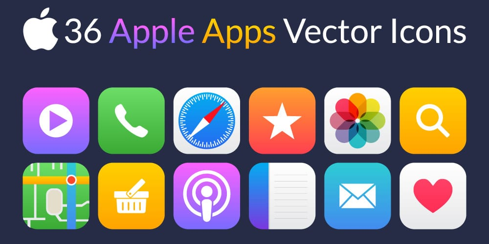 Apple Apps Vector Icons