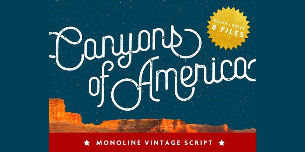 Canyons Vintage Script