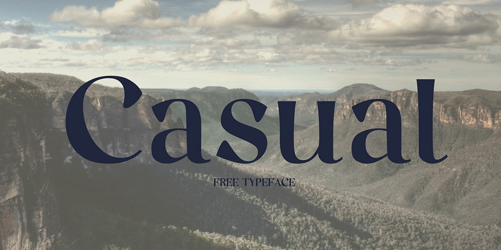 Casual Typeface