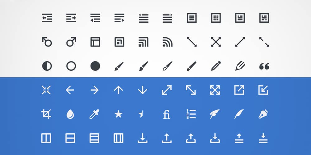 Design Editing Toolbar Icons PSD