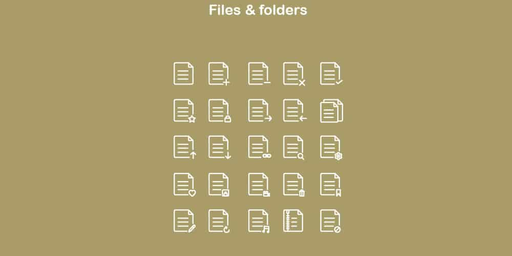 Document-and-Folders-Icons