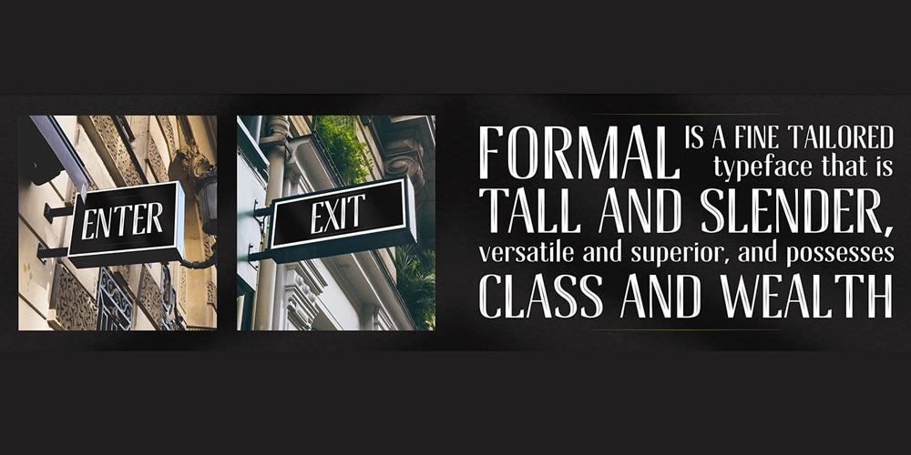 Formal Inline Font