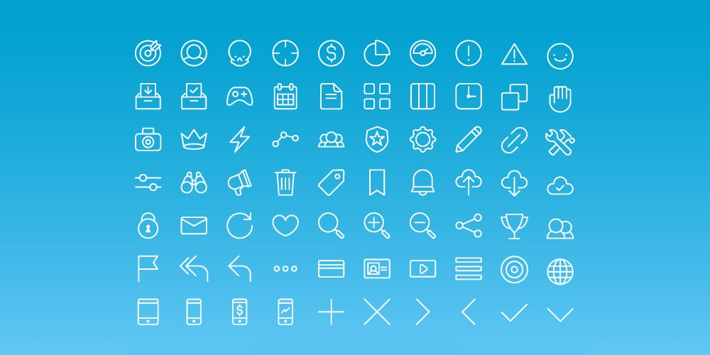 Free All Purpose Line Icons