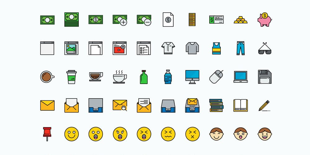 Free Color Line Icons
