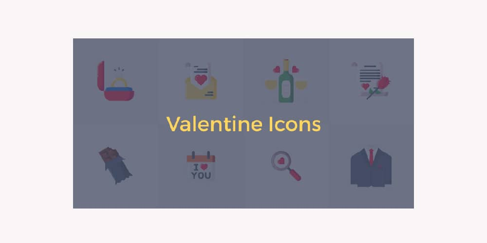 Free Colorful Valentine Icons