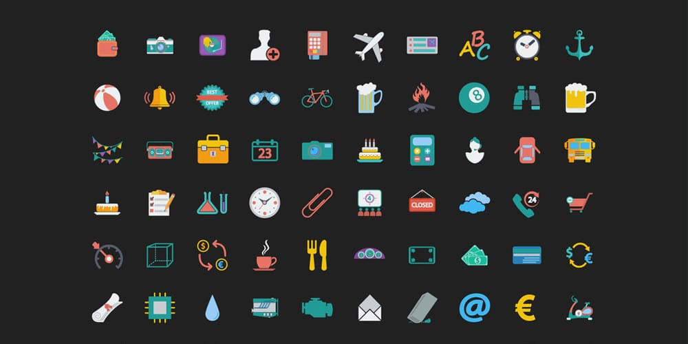 Free Colorful Web Icons