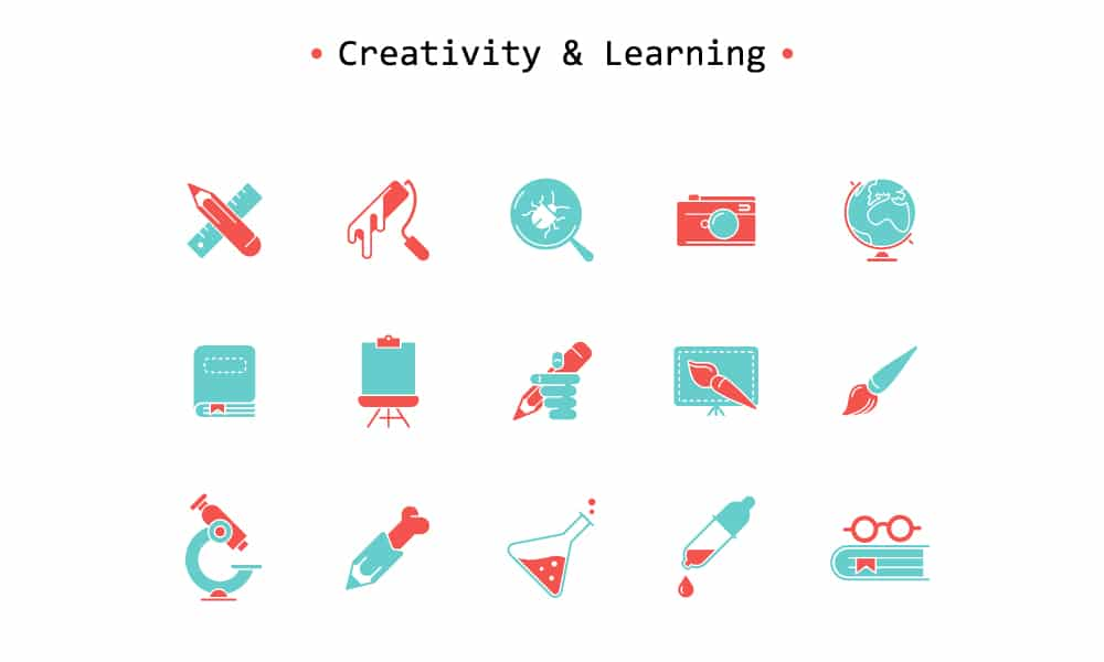 Free Creativity and Learning IconsFree Creativity and Learning Icons