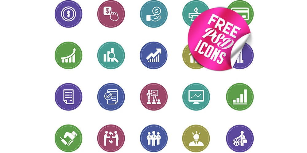 Free-Flat-Business-Icons-PSD