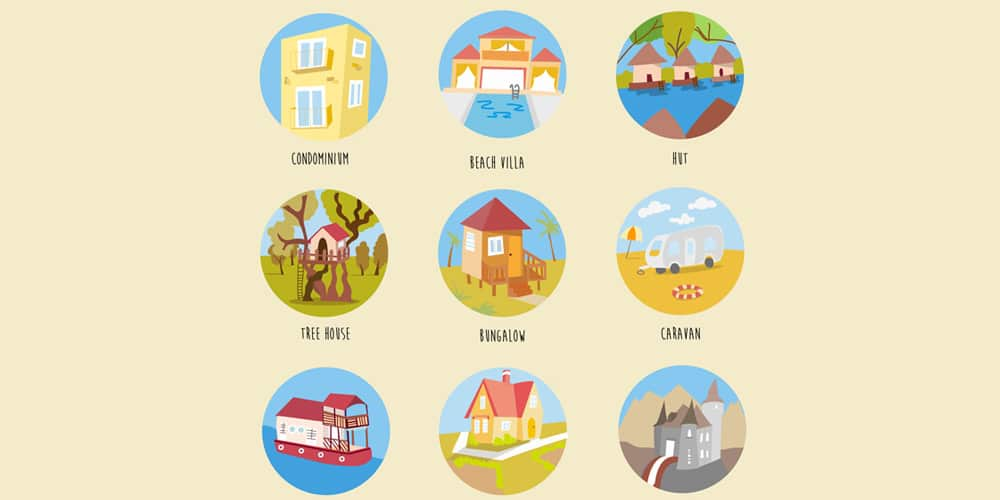 Free-Houses-and-Buildings-Icons