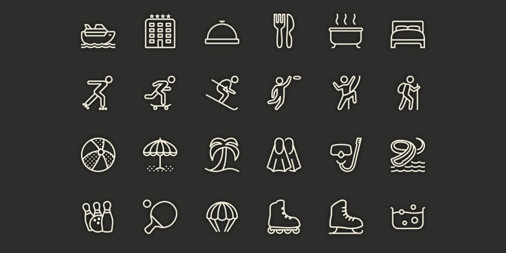 Free-Leisure-Line-Icons