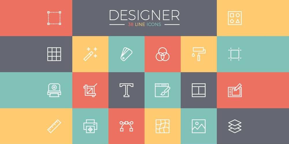 آیکون های خط رایگان برای طراحان