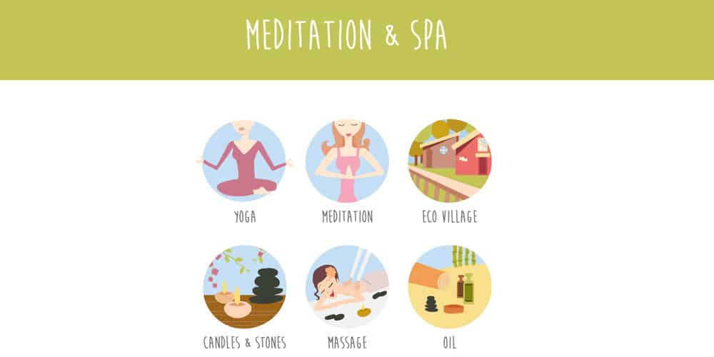 Free Meditation and Spa Icons