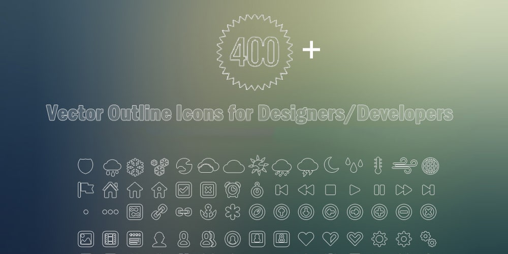 Free Outline Vector Icons PSD