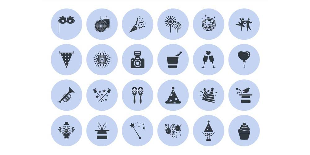 free-party-vector-icons