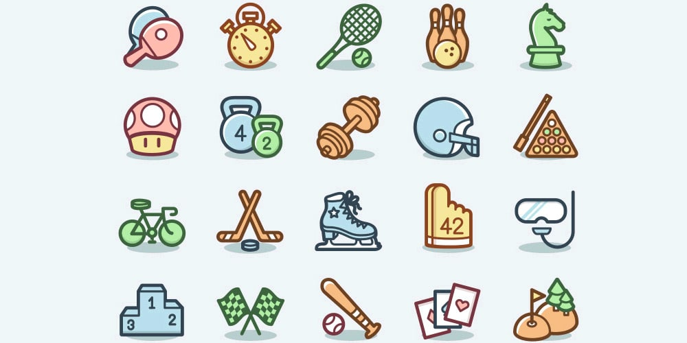 Free-Sports-and-Games-Icons
