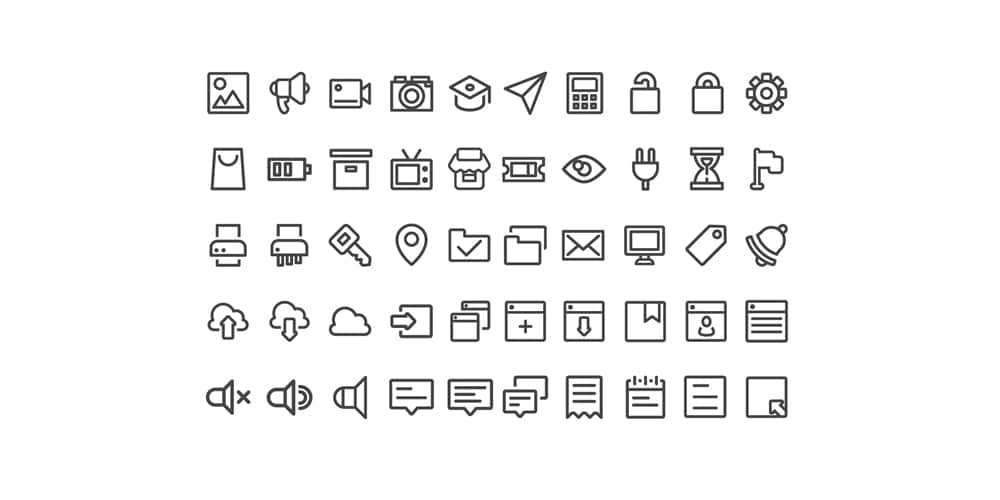Free UI Interface Icons