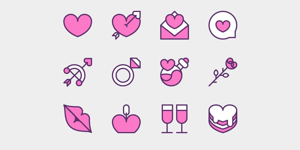 Sugar-Sweet Valentine's Day Icons