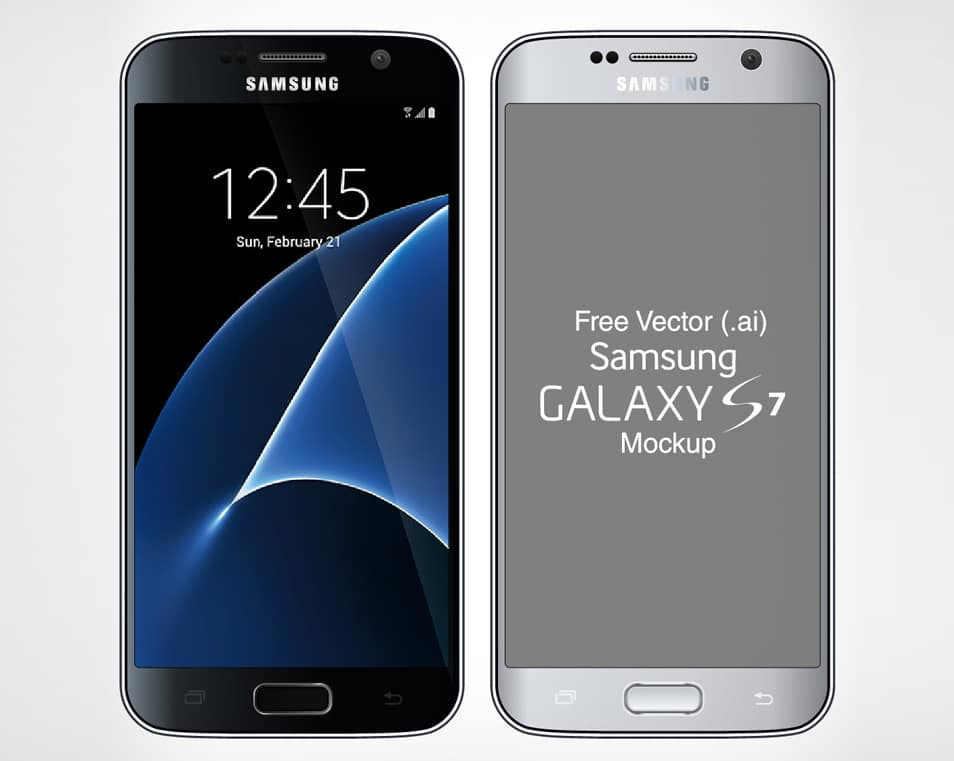 Free Vector Samsung Galaxy S7 & S7 Edge Mock-up