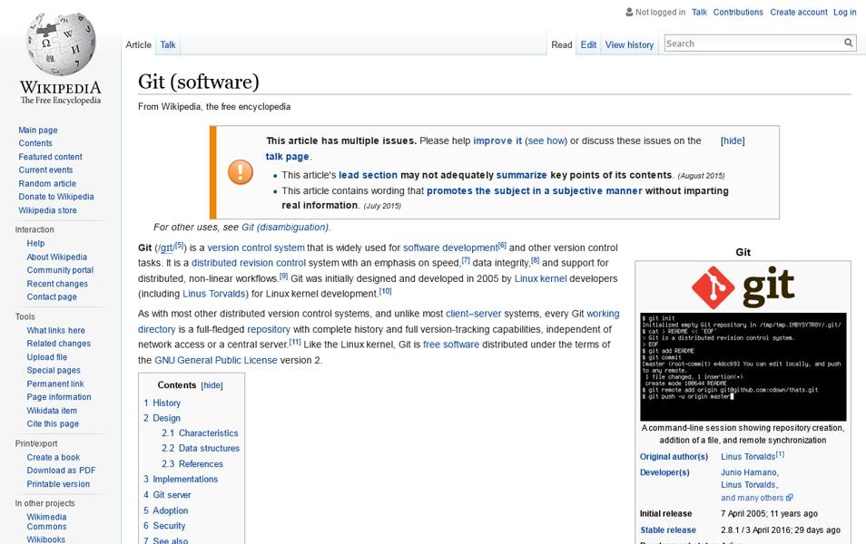 Git Wikipedia