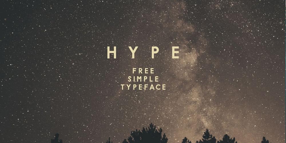 H Y P E Font