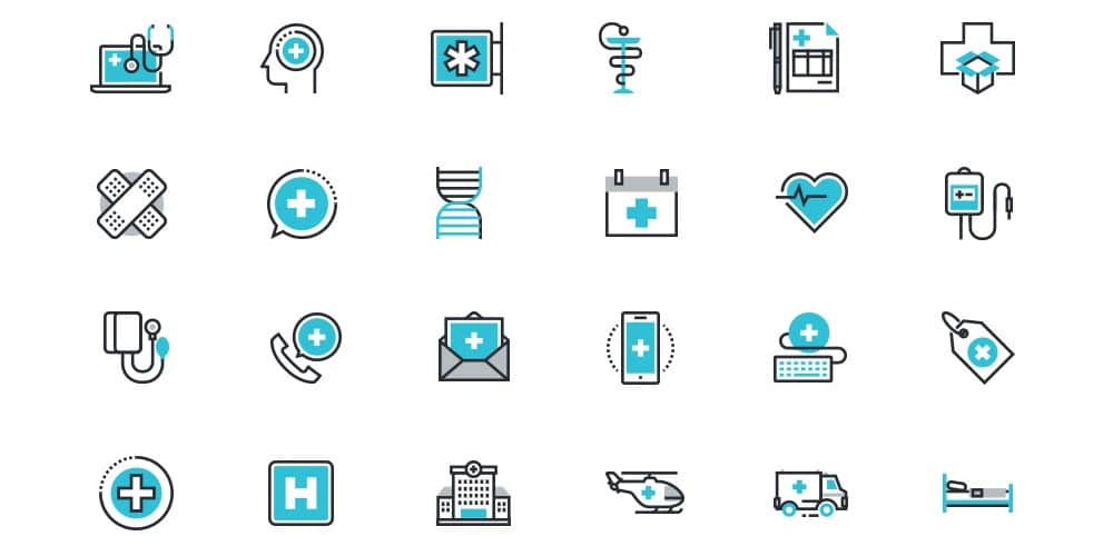 Healthcare and Medicine Icons PSD