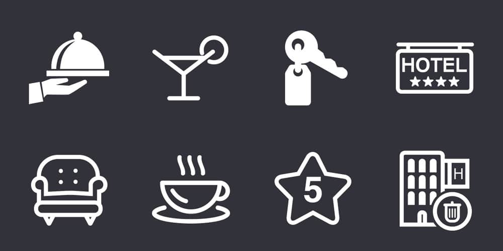 Hotel Icons PSD