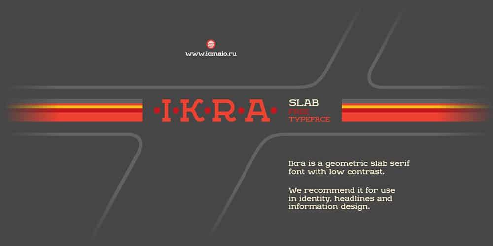 Ikra Slab Typeface
